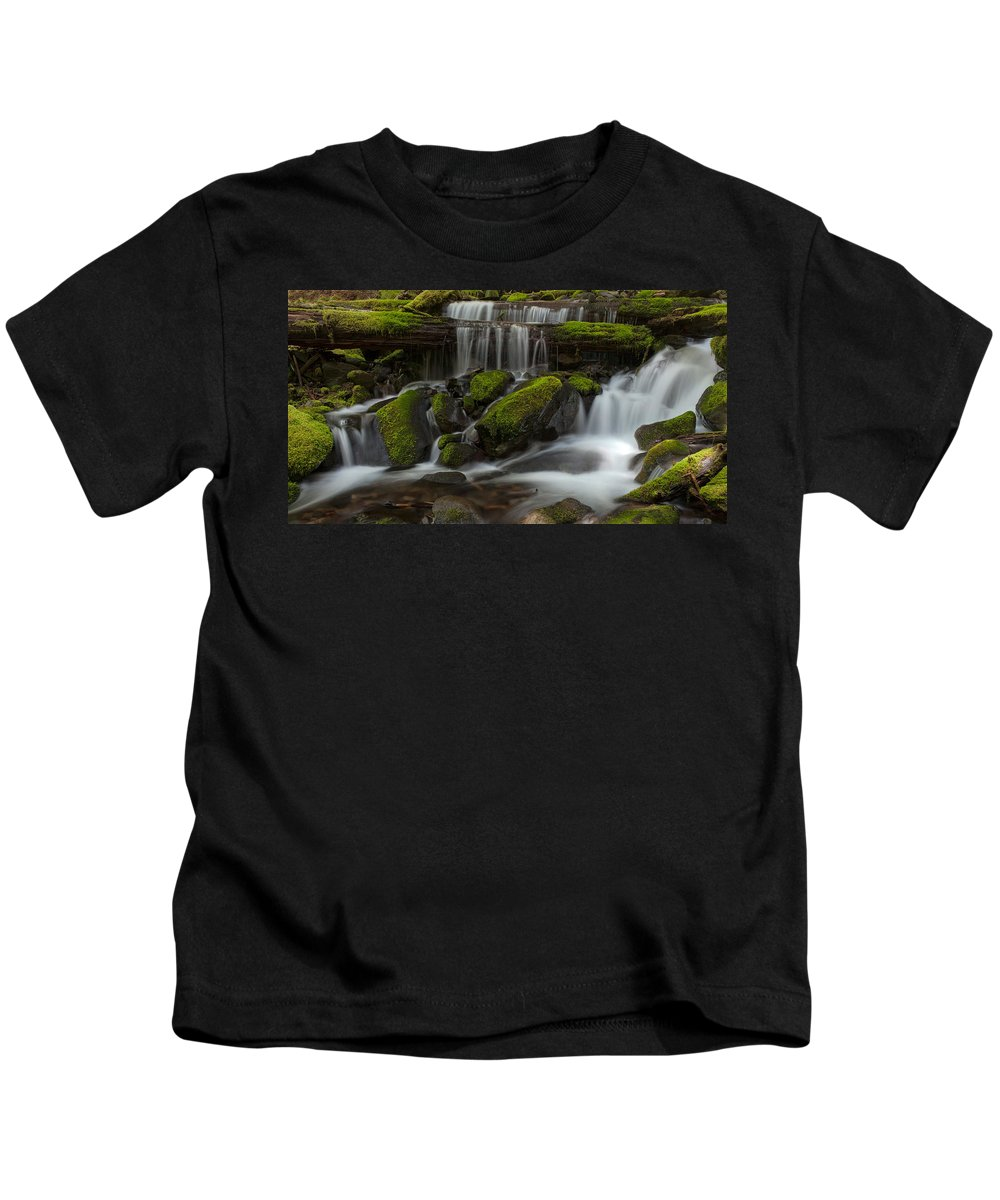 Olympic National Park Kids T-Shirt featuring the photograph Sol Duc Stream by Mike Reid