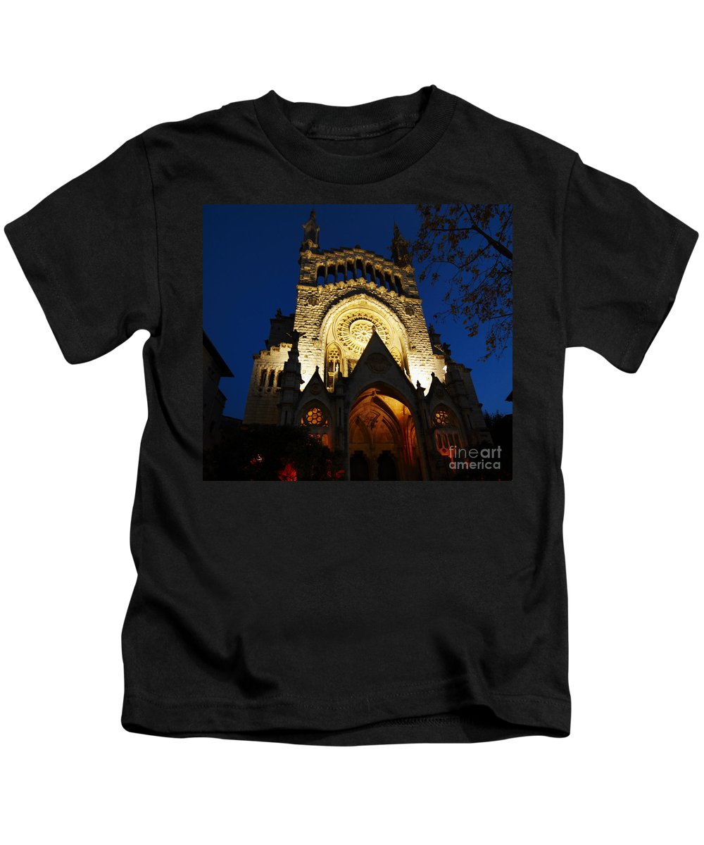 Soller Kids T-Shirt featuring the photograph Soller Cathedral by Agusti Pardo Rossello