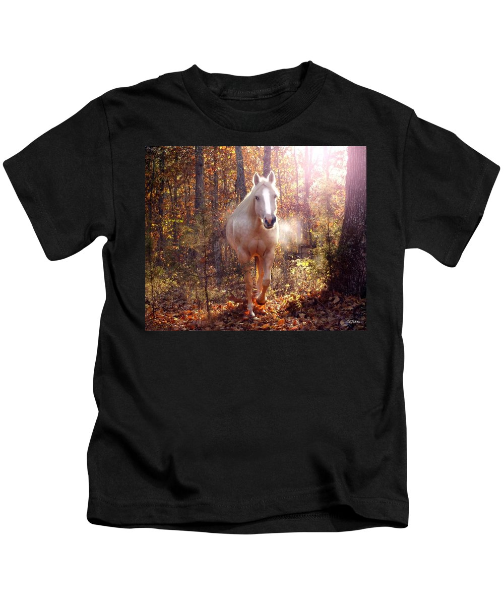 Horses Kids T-Shirt featuring the photograph Spirit by Bill Stephens