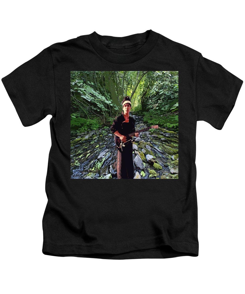 Spirit Kids T-Shirt featuring the photograph Spirit Creek Rushing 2 by Ben Upham