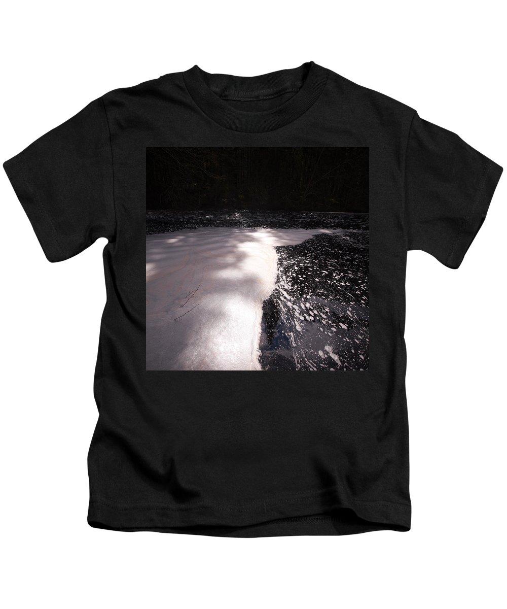Lehtokukka Kids T-Shirt featuring the photograph Spring Flood Foam Bath by Jouko Lehto
