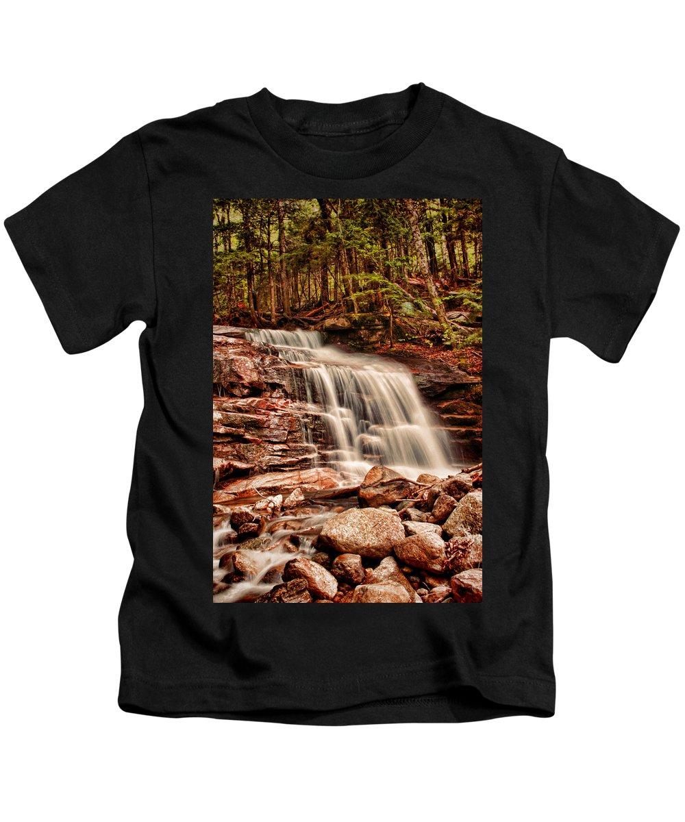 Stairs Kids T-Shirt featuring the photograph Stairs Falls by Heather Applegate