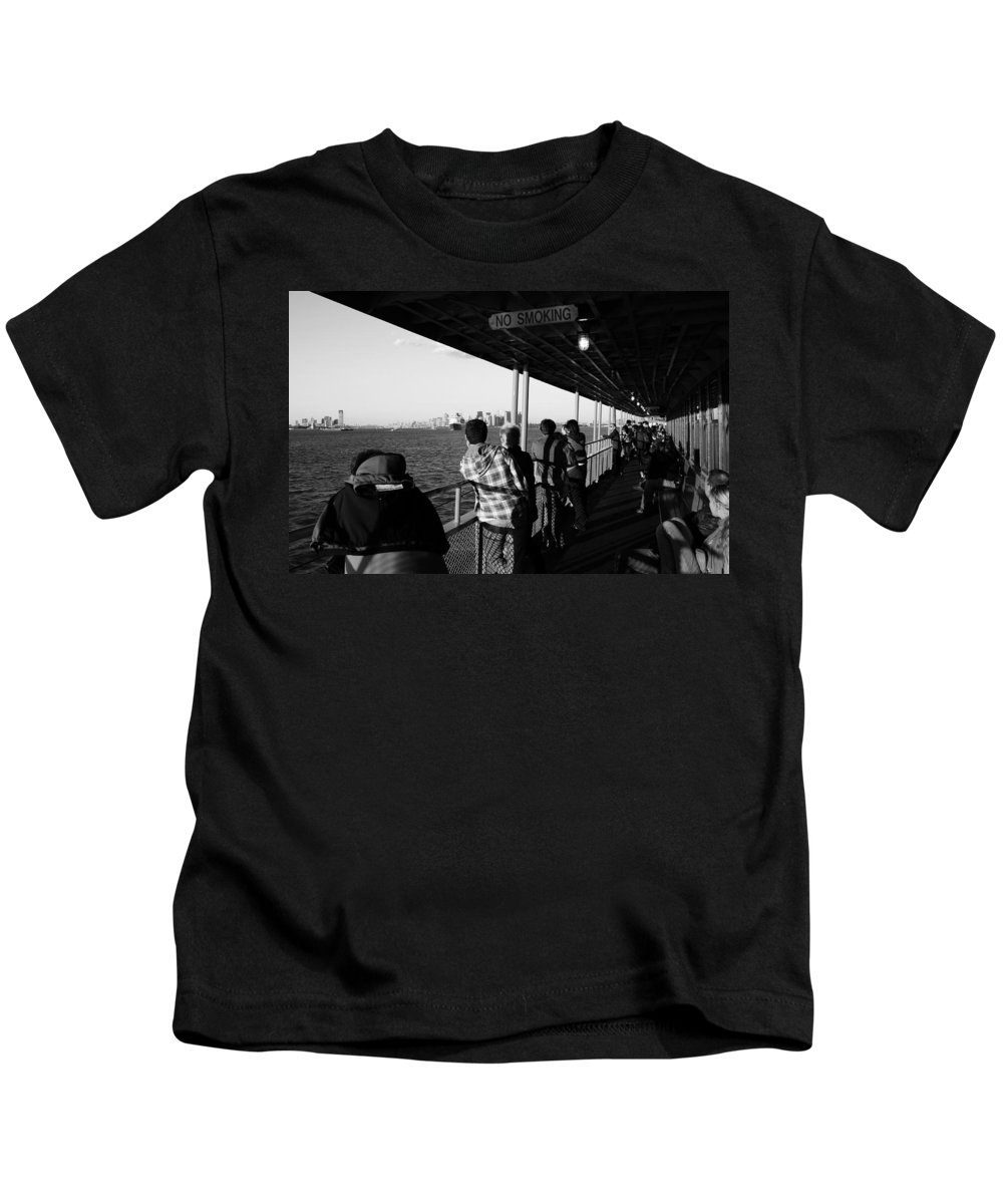 New York Kids T-Shirt featuring the photograph Staten Island Ferry 2 by Andrew Fare