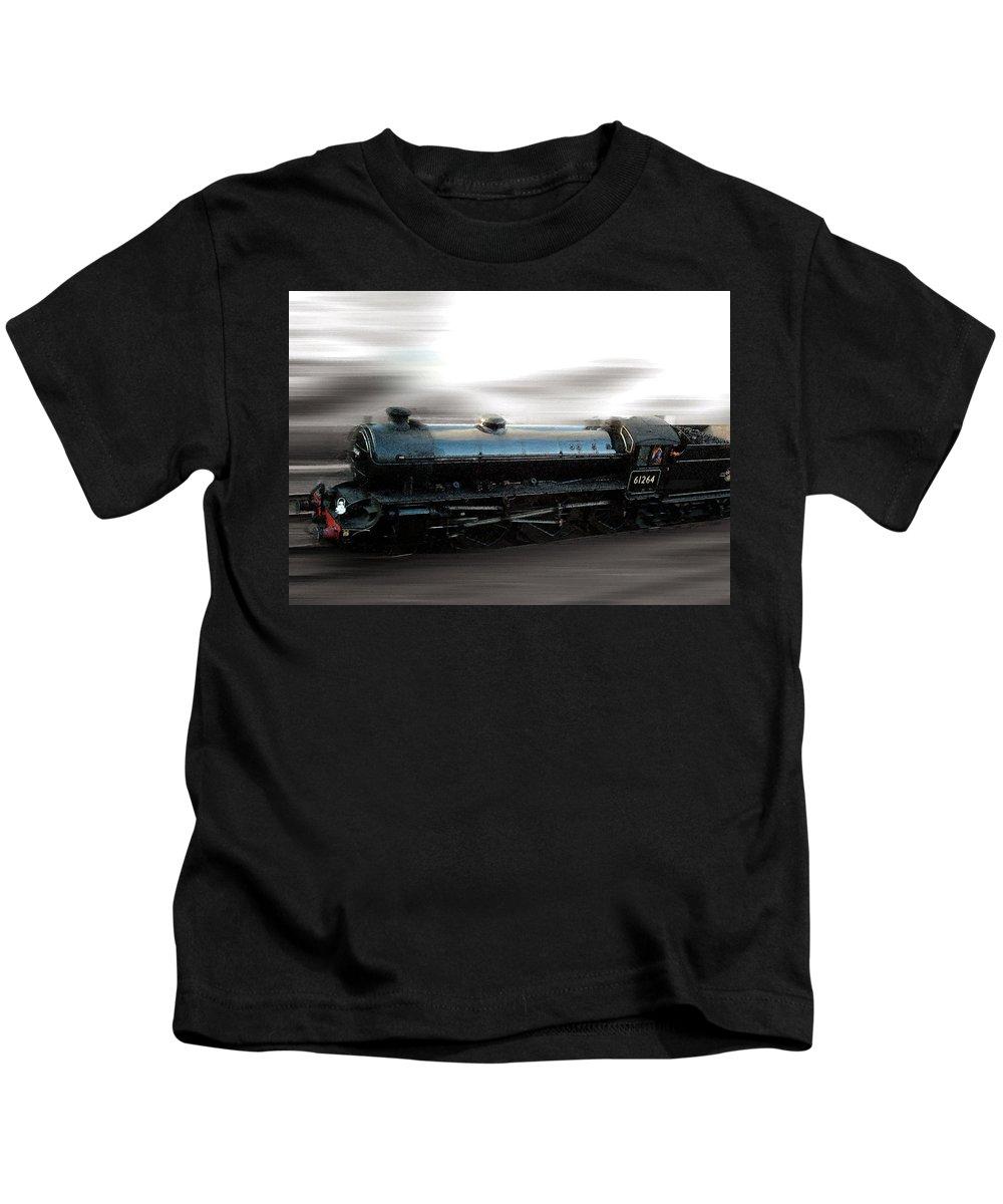 Steam Train Kids T-Shirt featuring the photograph Steam Train by Cliff Norton