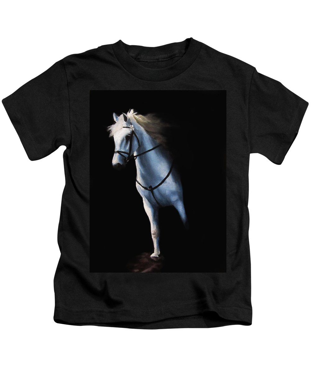Stepping Kids T-Shirt featuring the painting Stepping Into The Spotlight by Kayleigh Semeniuk