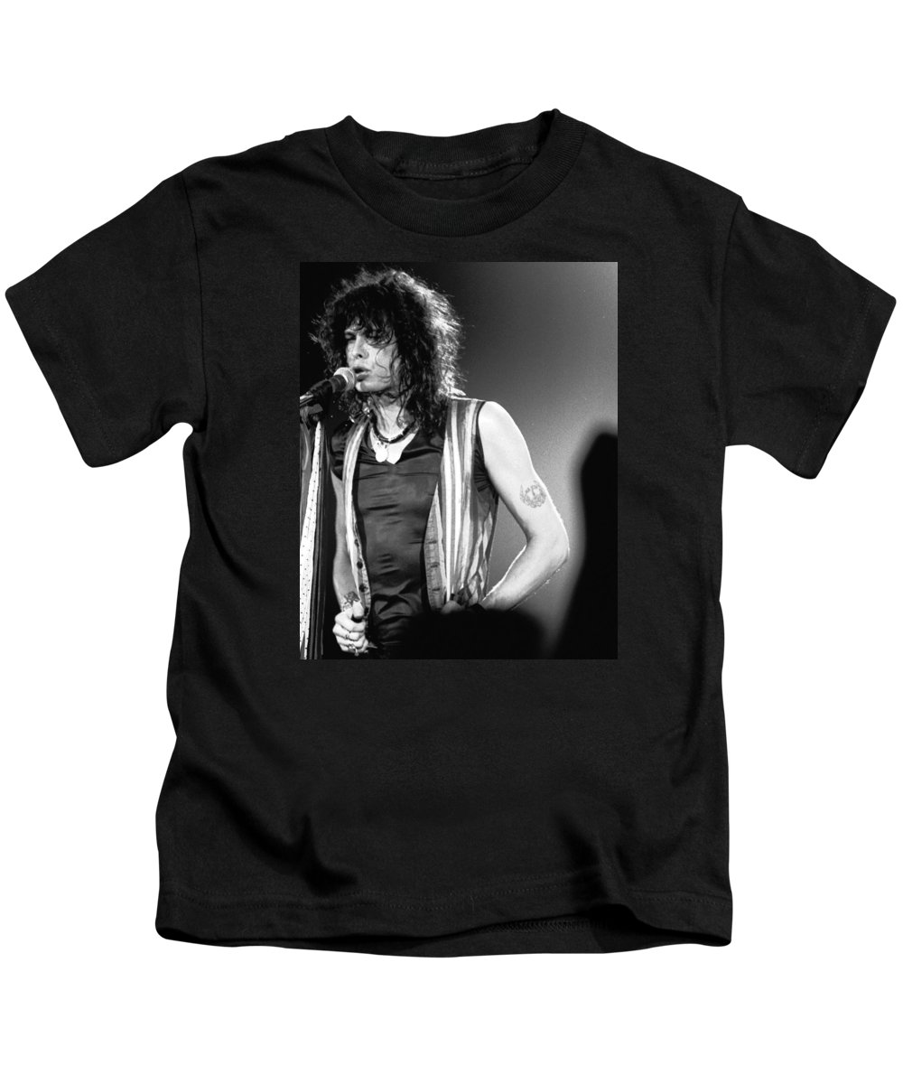 Aerosmith Kids T-Shirt featuring the photograph Steven In Spokane 1 by Ben Upham