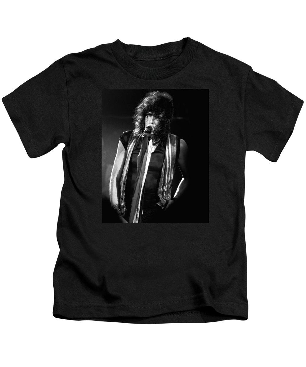 Aerosmith Kids T-Shirt featuring the photograph Steven In Spokane 18 by Ben Upham