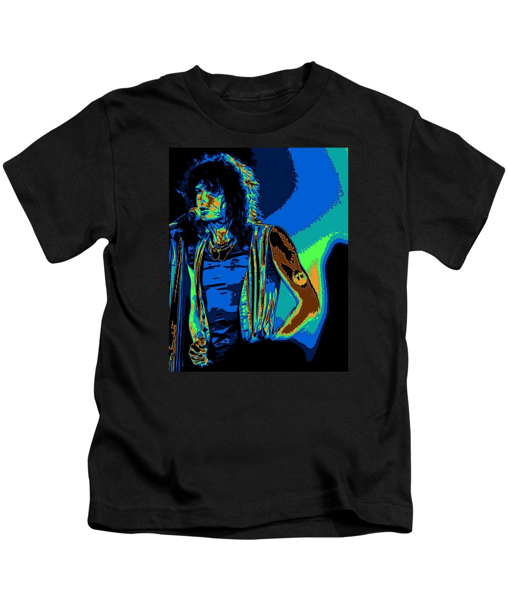Aerosmith Kids T-Shirt featuring the photograph Steven In Spokane 1e by Ben Upham