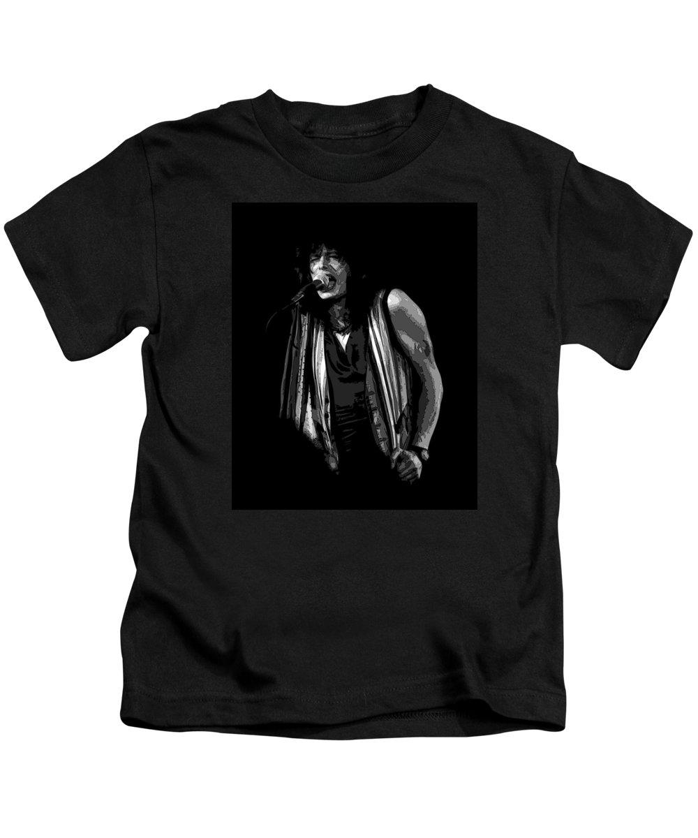 Aerosmith Kids T-Shirt featuring the photograph Steven In Spokane 6b by Ben Upham