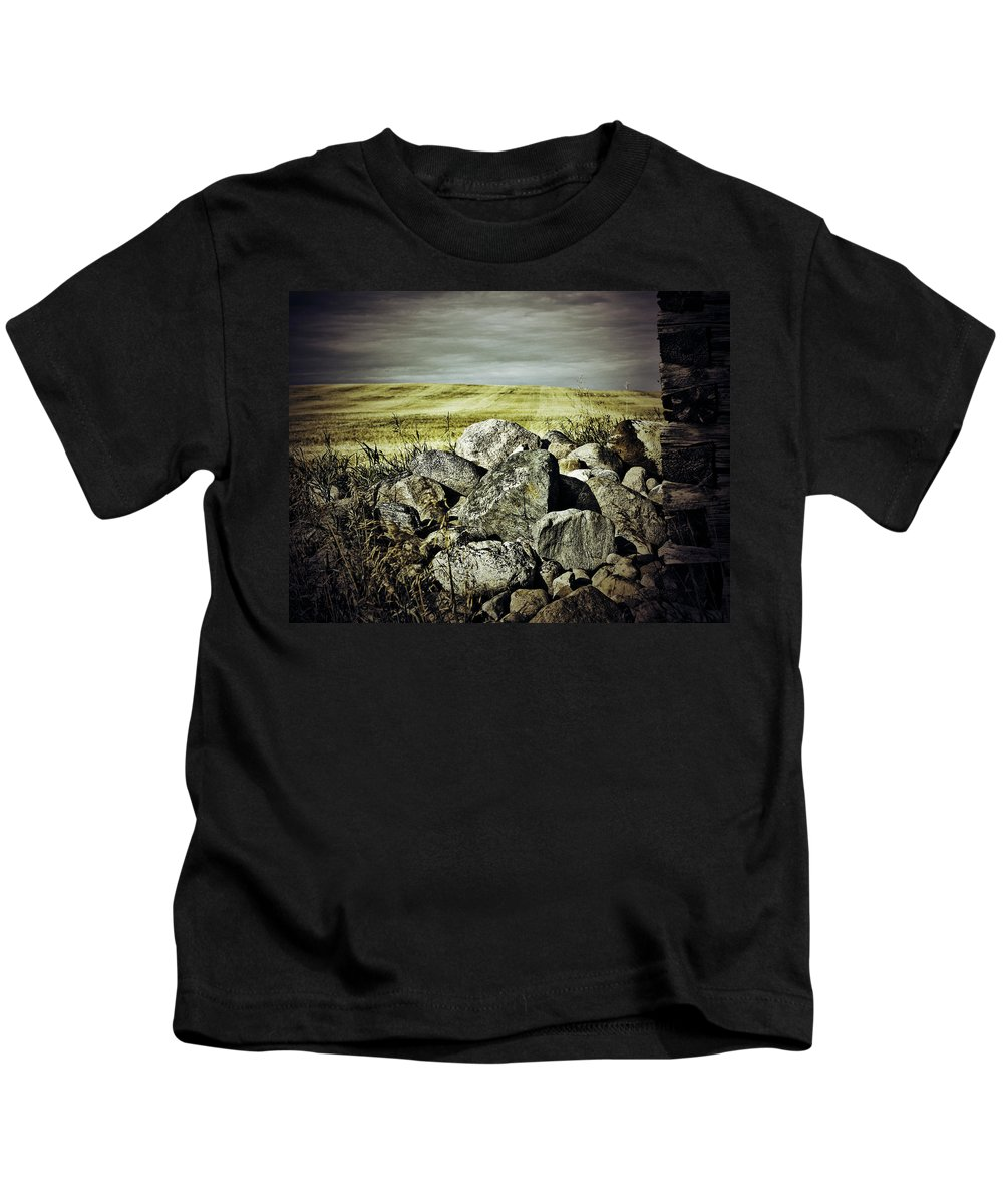 Photographer Kids T-Shirt featuring the photograph Sticks And Stones by The Artist Project