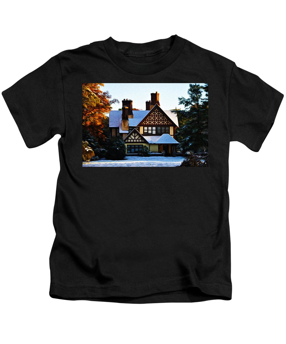 Storybook House Kids T-Shirt featuring the photograph Storybook House by Bill Cannon
