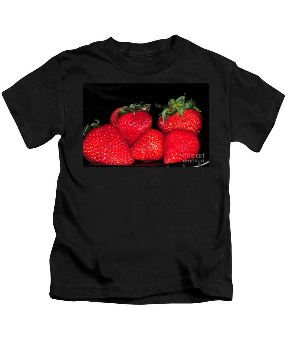 Strawberry Kids T-Shirt featuring the photograph Strawberries by Paul Ward