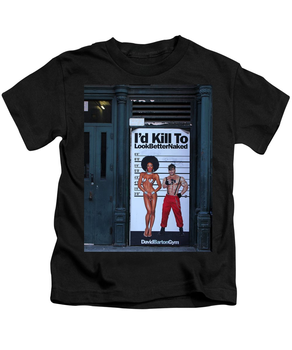 New York Kids T-Shirt featuring the photograph Streets Of New York 1 by Andrew Fare