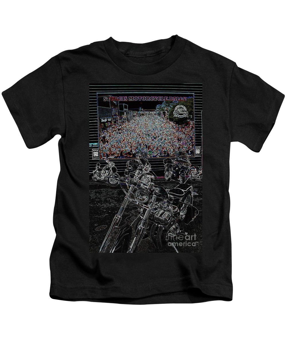 Motorcycle Kids T-Shirt featuring the photograph Stugis Motorcycle Rally by Anthony Wilkening