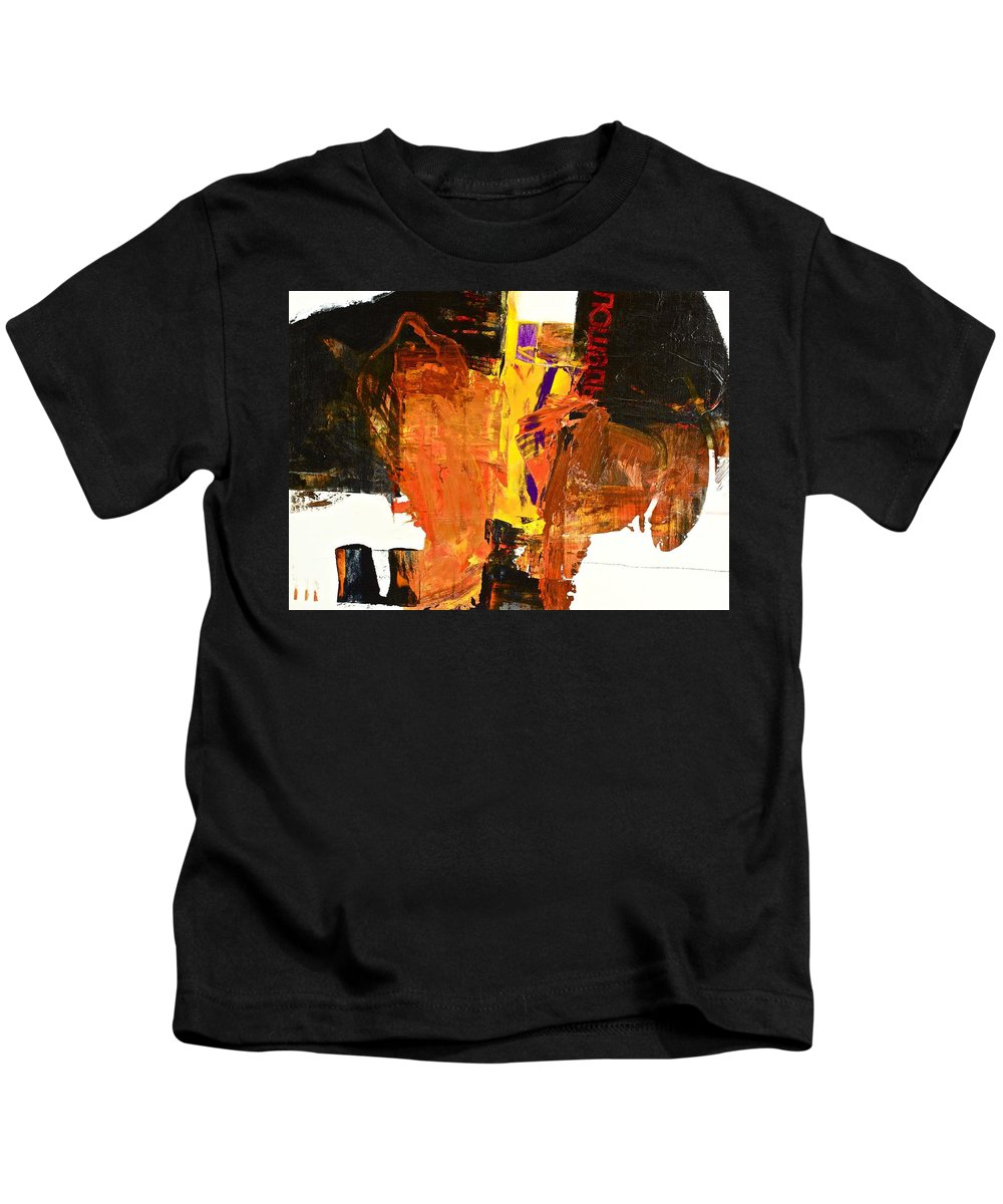 Abstract Paintings Kids T-Shirt featuring the painting Subliminal Sublimation by Cliff Spohn