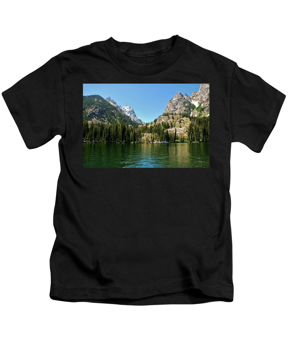 Jenny Lake Kids T-Shirt featuring the photograph Summer Day At Jenny Lake by Dany Lison