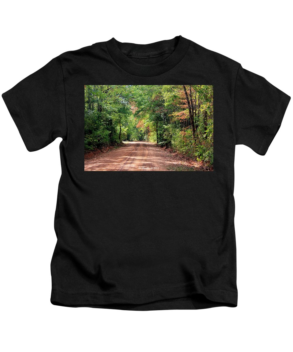 Landscape Kids T-Shirt featuring the photograph Sunlight Intersection by Betty Northcutt