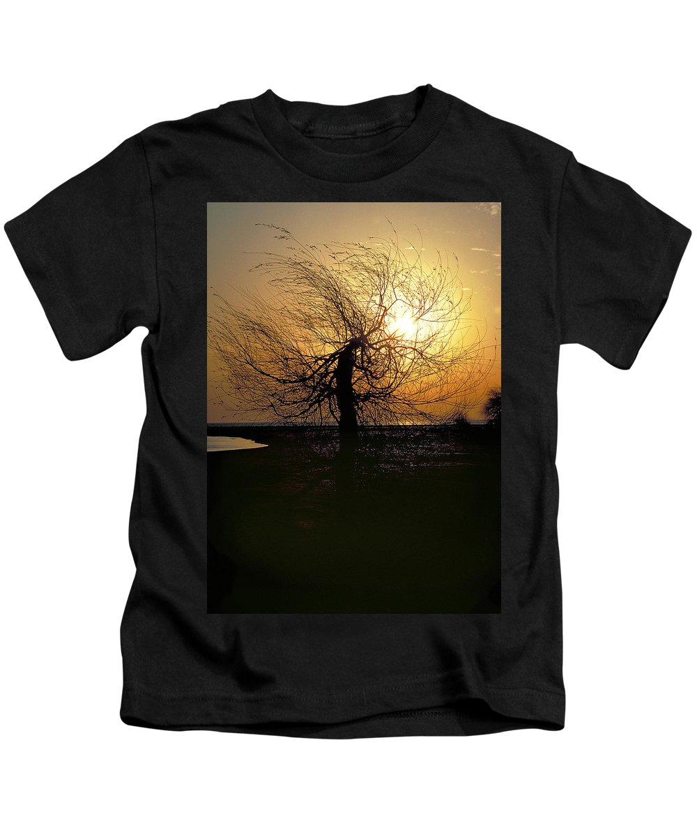 Tree Kids T-Shirt featuring the photograph Sunrise And Tree by Thomas Firak