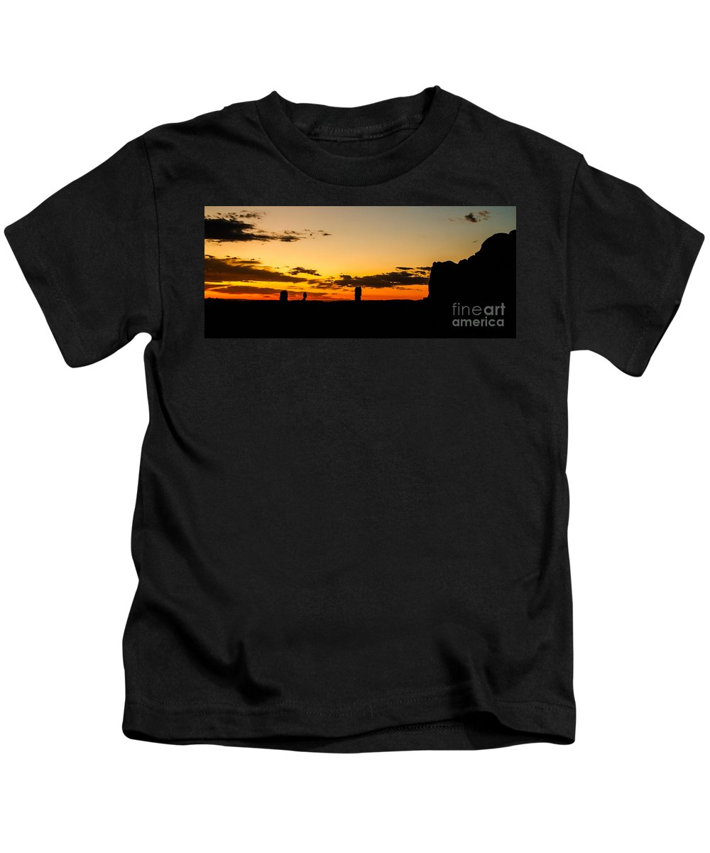 Arches National Park Kids T-Shirt featuring the photograph Sunset Arches by Robert Bales
