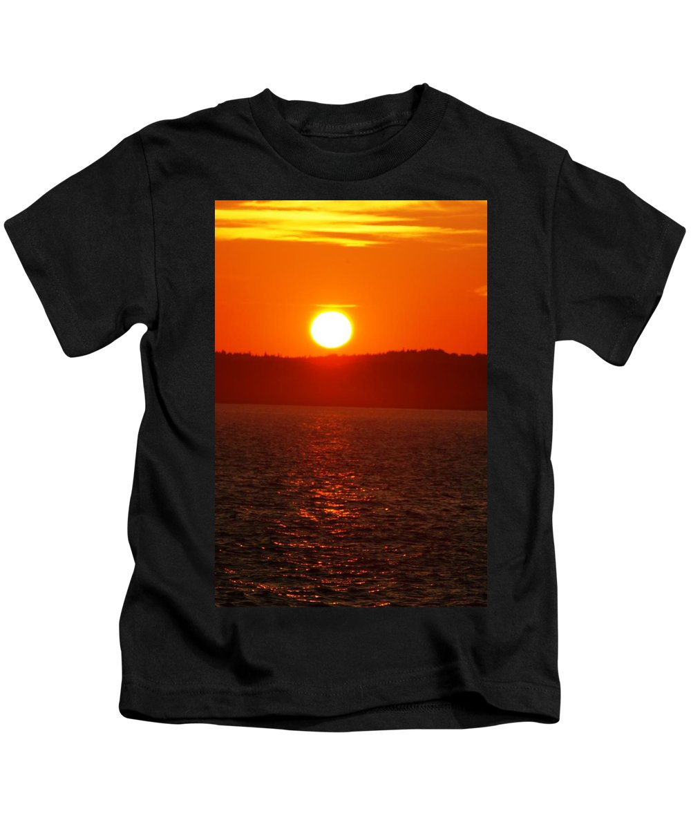 Sunset Kids T-Shirt featuring the photograph Sunset II by Joe Faherty