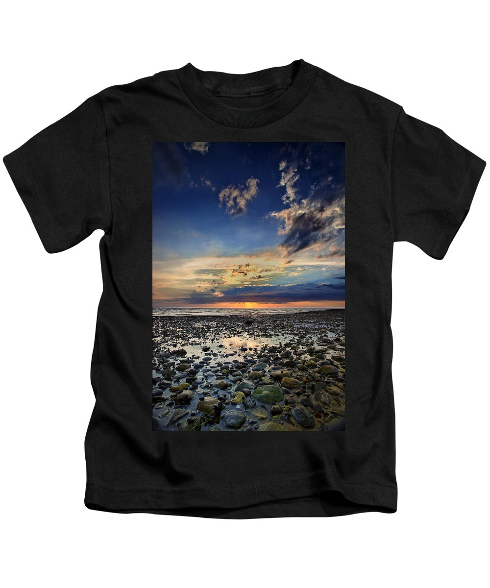 Bound Brook Island Kids T-Shirt featuring the photograph Sunset Over Bound Brook Island by Rick Berk