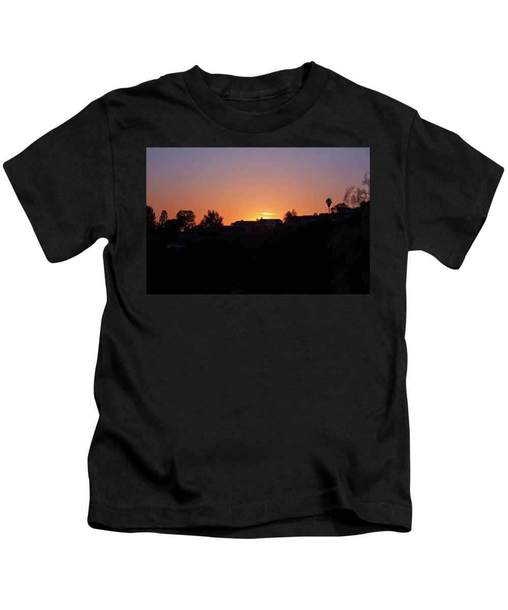 Sunset Kids T-Shirt featuring the photograph Sunset Silhouette by Lorraine Devon Wilke