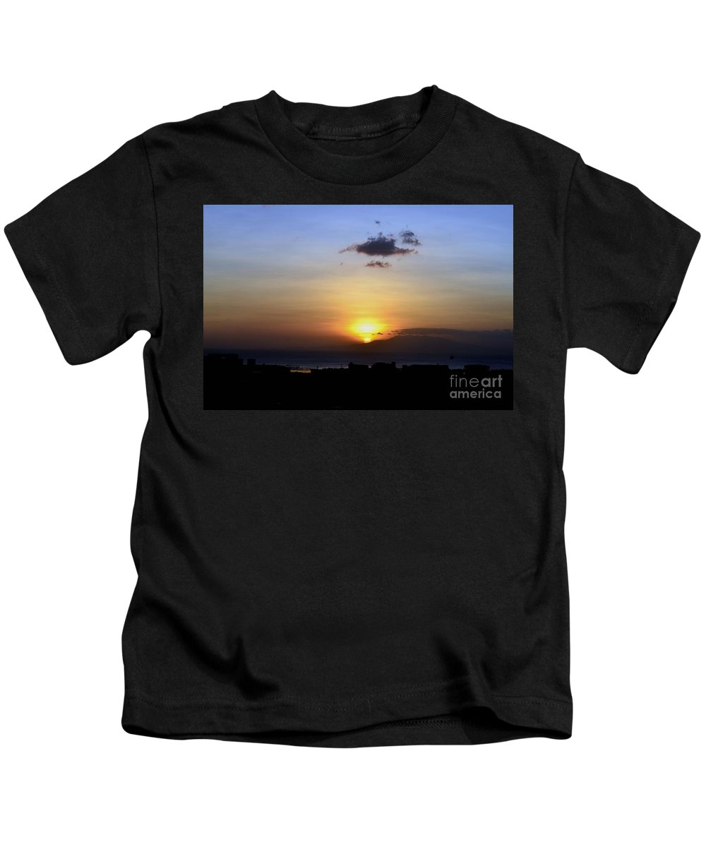 Kids T-Shirt featuring the photograph Sunset Upon The Ocean Number Two by Christopher Shellhammer