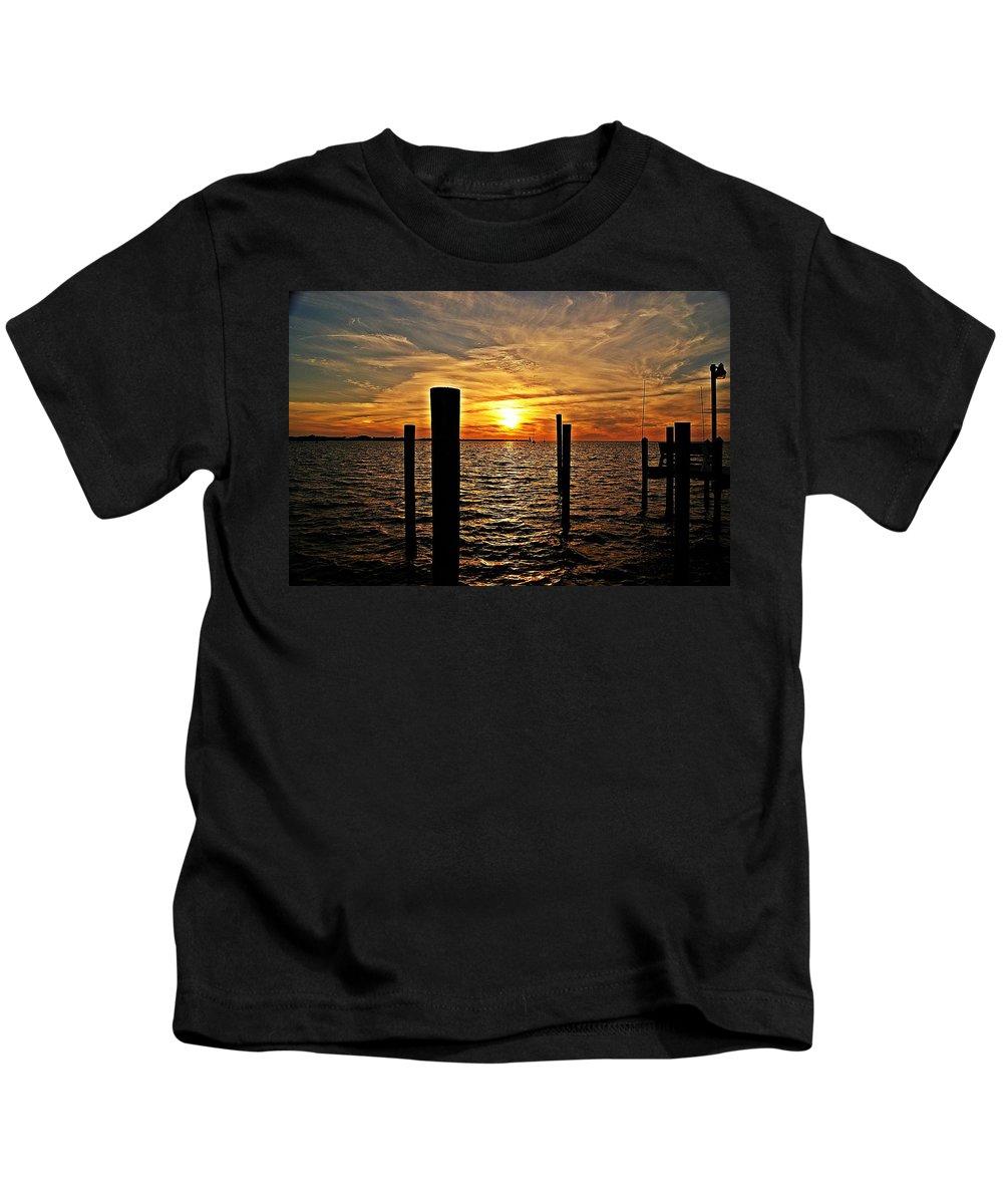 Sunset Kids T-Shirt featuring the photograph Sunset X by Joe Faherty