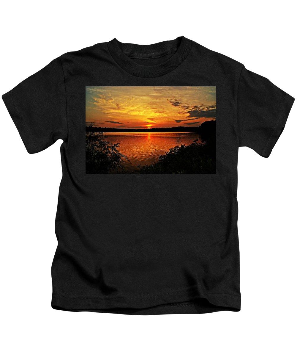 Sunrise Kids T-Shirt featuring the photograph Sunset Xxi by Joe Faherty