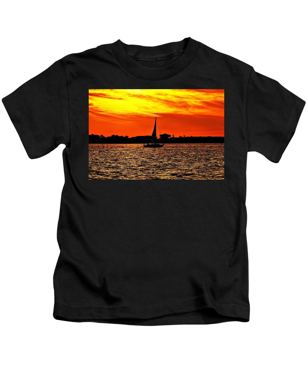 Sunset Kids T-Shirt featuring the photograph Sunset Xxxiv by Joe Faherty