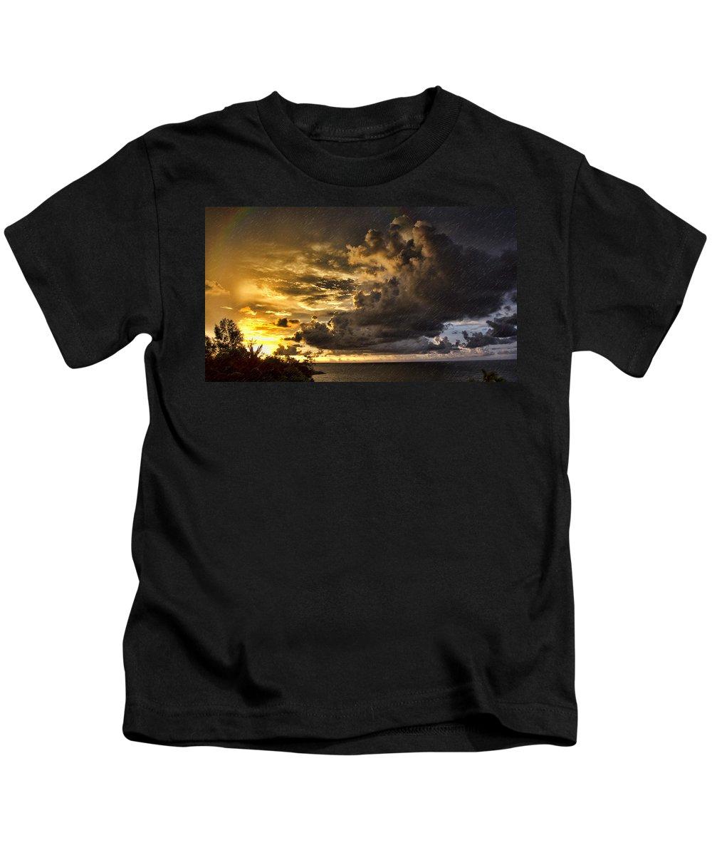 Sun Storm Kids T-Shirt featuring the photograph Sunstorm by Douglas Barnard