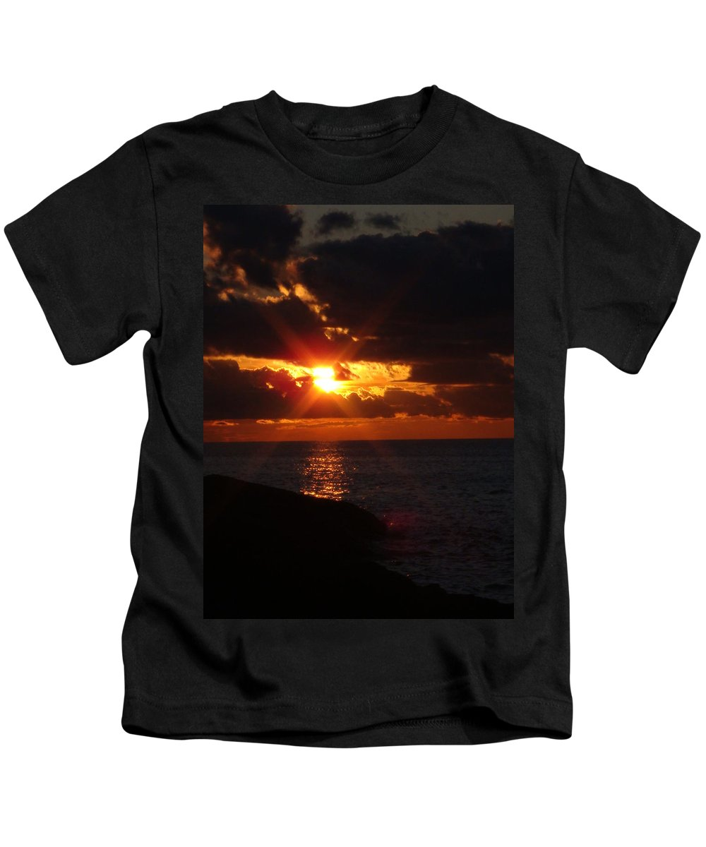 Lake Superior Kids T-Shirt featuring the photograph Superior Sunset by Bonfire Photography