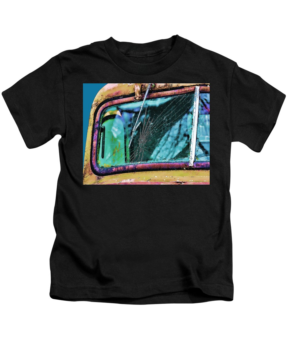 Truck Kids T-Shirt featuring the photograph Survivor by Terry Fiala