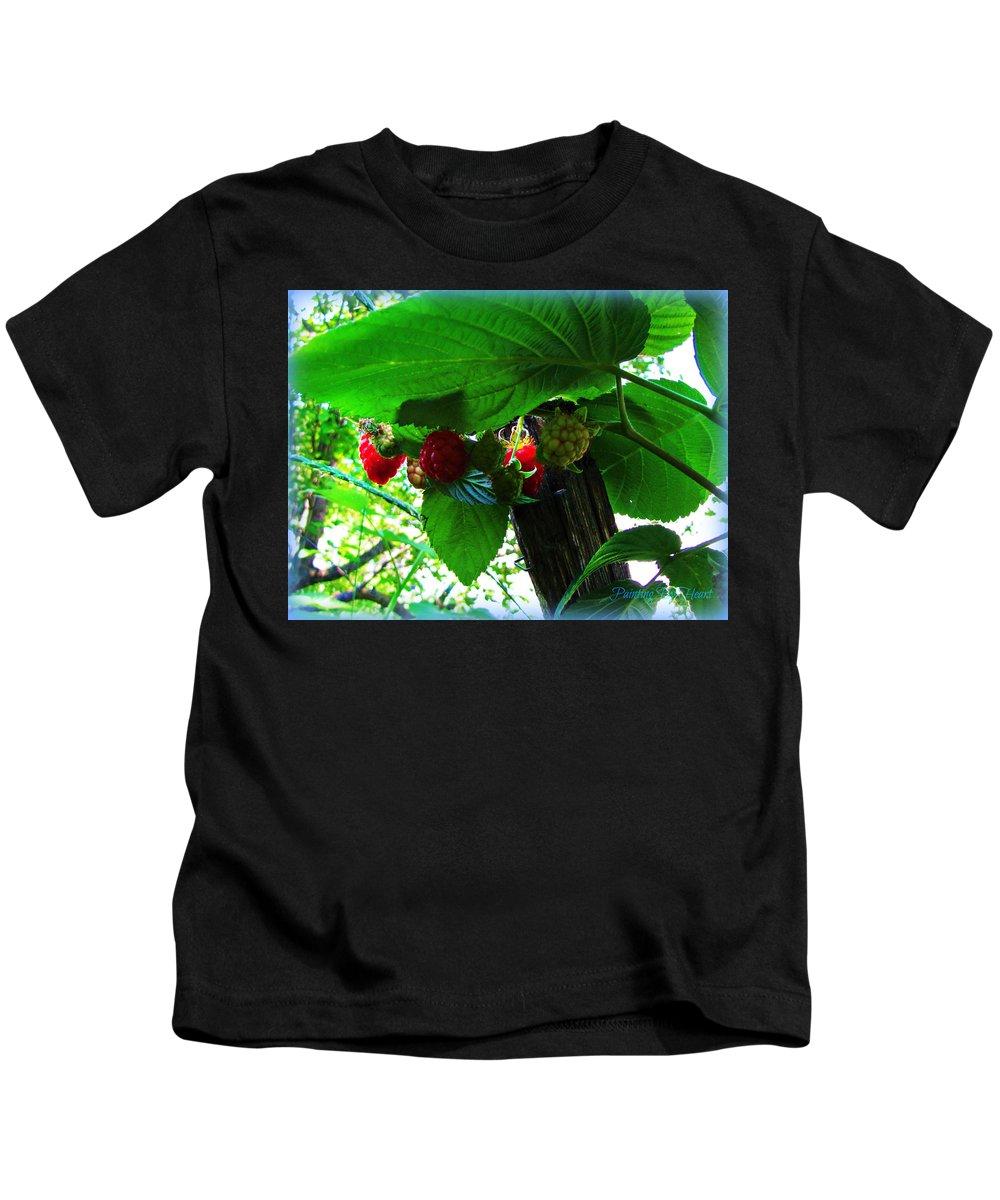 Raspberries Kids T-Shirt featuring the photograph Sweet N Juicy by Deahn   Benware