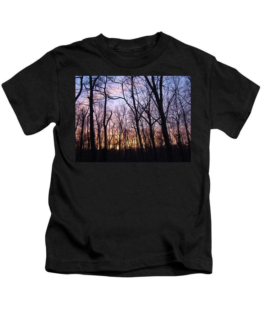 Winter Kids T-Shirt featuring the photograph Tangled Up In Blue by Mother Nature