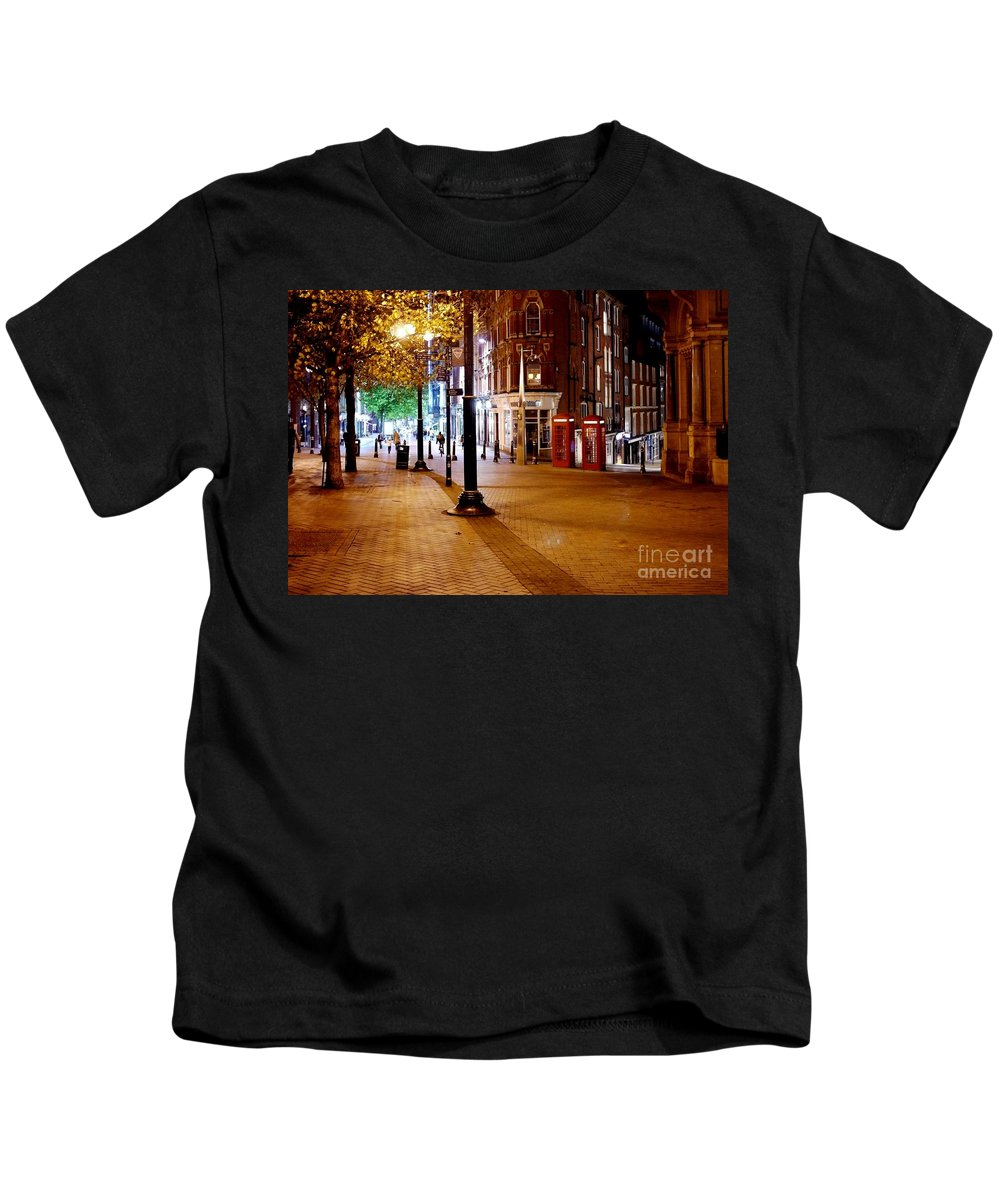 Street Kids T-Shirt featuring the photograph Telephone Boxes by John Chatterley
