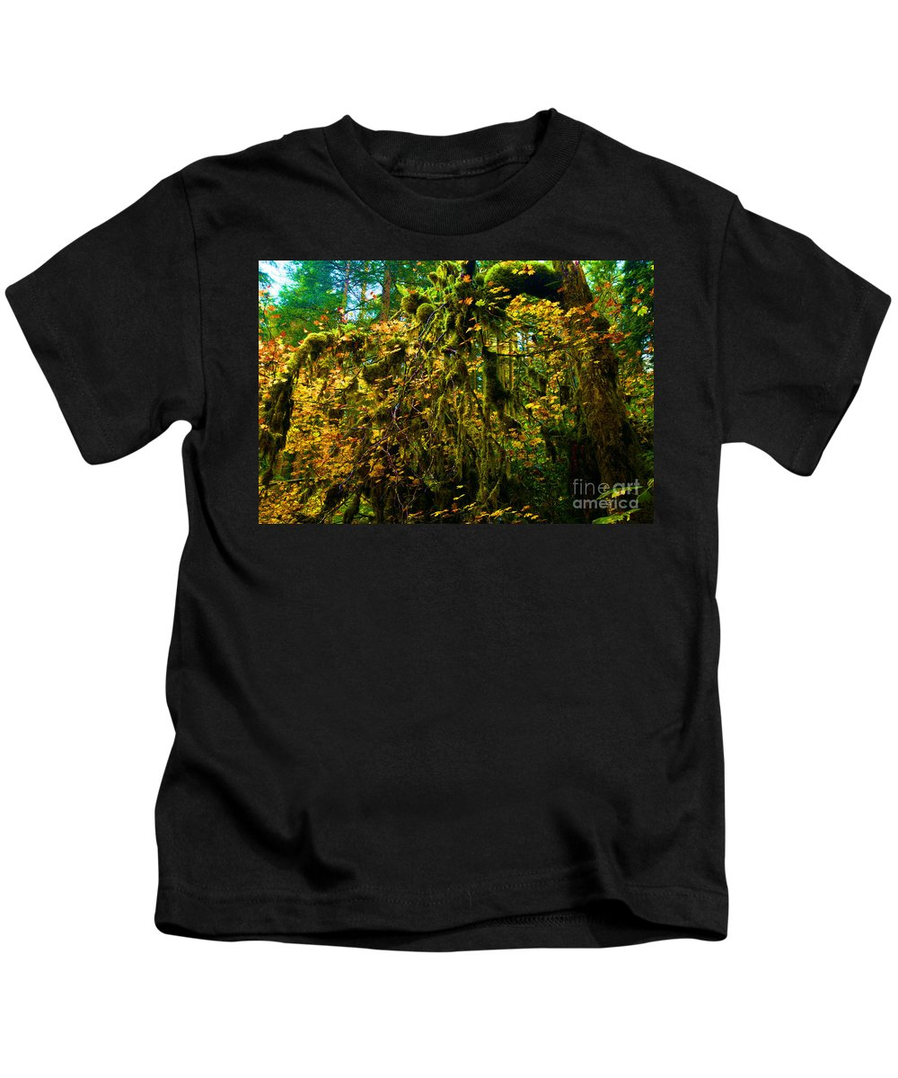 Silver Falls State Park Kids T-Shirt featuring the photograph Temperate Rain Forest by Adam Jewell