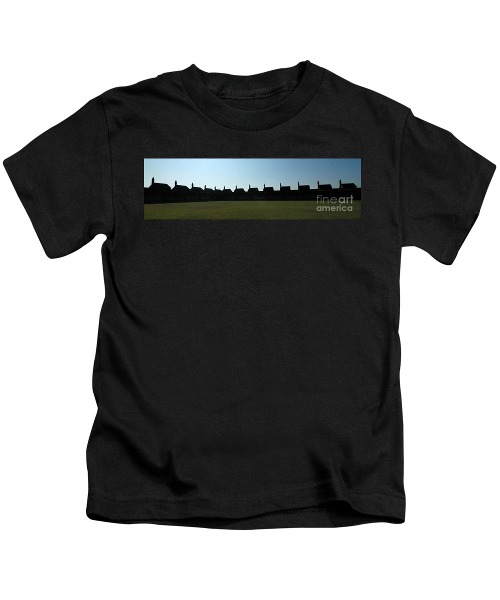 Abbey Kids T-Shirt featuring the photograph The Abbey by Mike Nellums