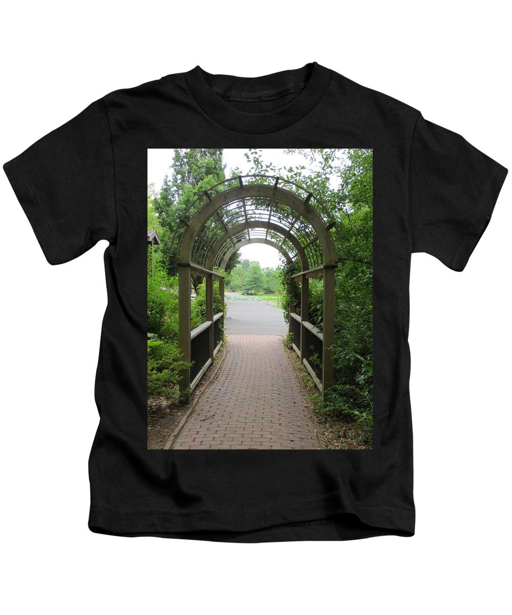 Kids T-Shirt featuring the photograph The Archway by Sonali Gangane