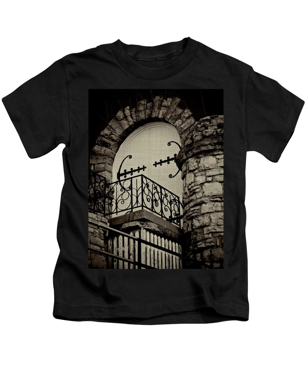 Architecture Kids T-Shirt featuring the photograph The Balcony by Chris Berry