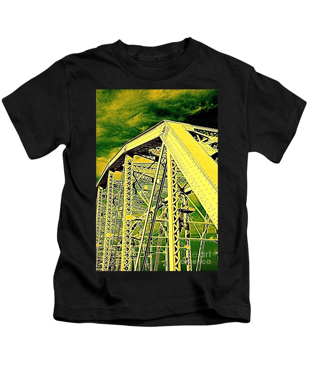 Bridge Kids T-Shirt featuring the photograph The Bridge To The Skies by Susanne Van Hulst