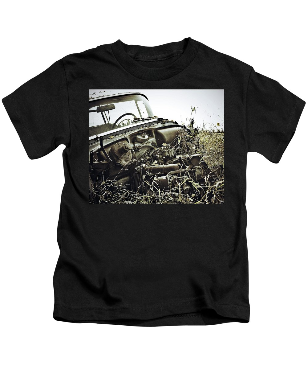 Street Photographer Kids T-Shirt featuring the photograph The Dirts Hold by The Artist Project