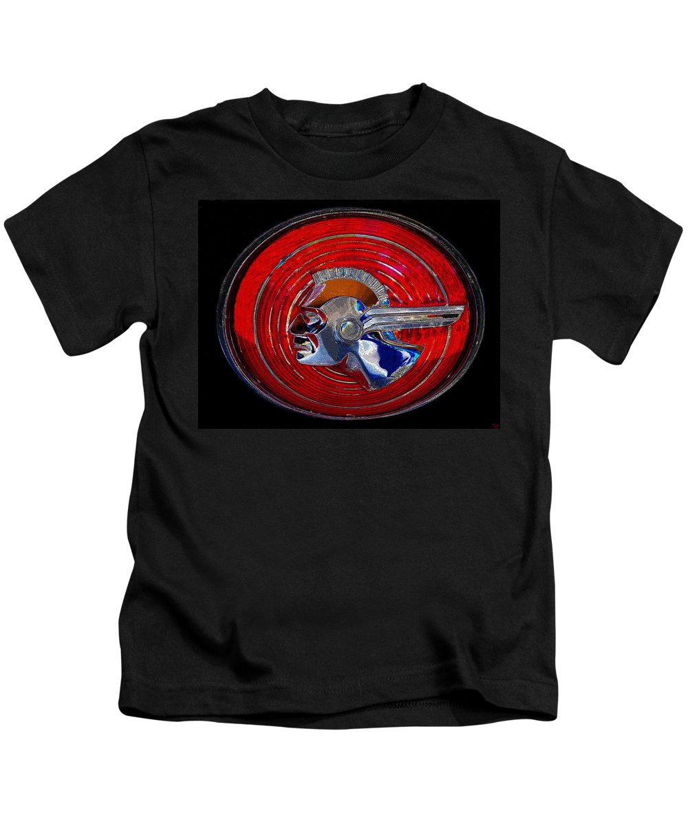 Art Kids T-Shirt featuring the painting The Great Chief Pontiac by David Lee Thompson