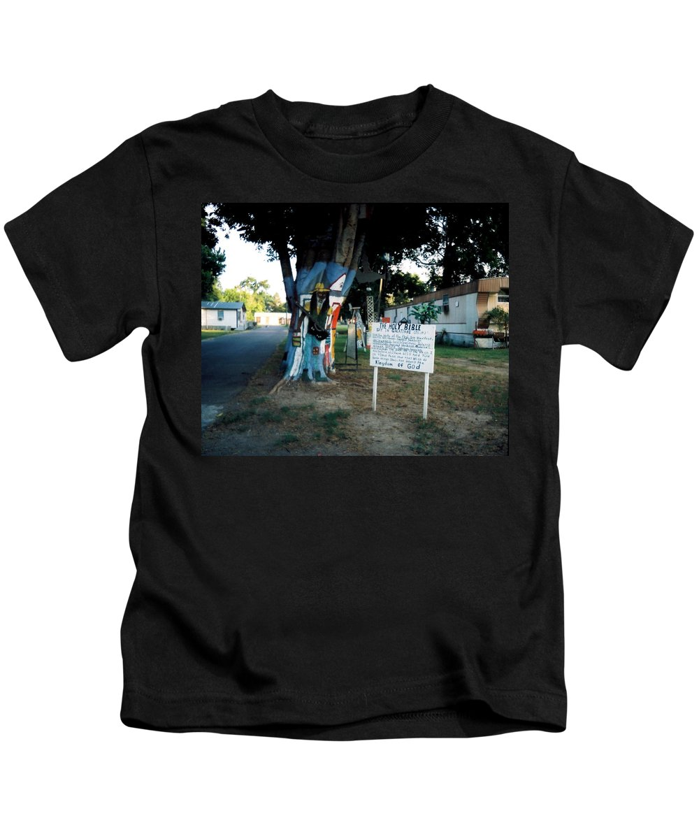Louisiana Kids T-Shirt featuring the photograph The Holy Bible Say In Galatians by Doug Duffey
