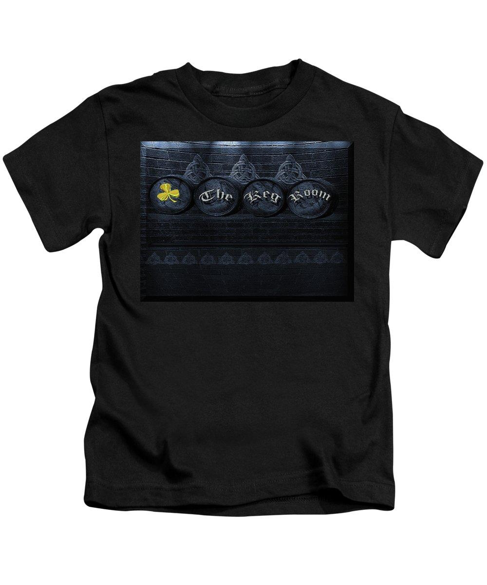 Keg Kids T-Shirt featuring the photograph The Keg Room Version 5 by LeeAnn McLaneGoetz McLaneGoetzStudioLLCcom