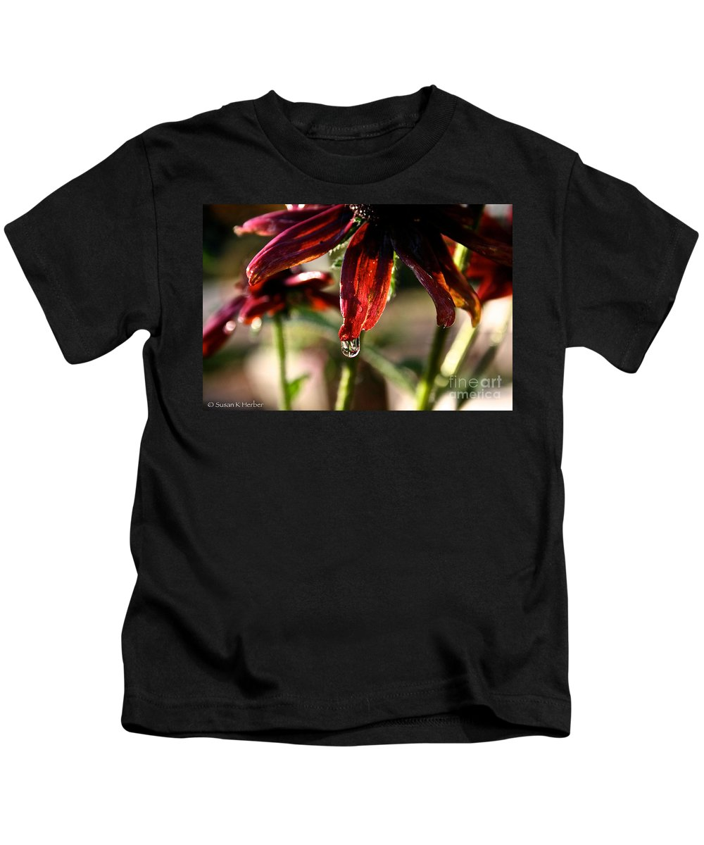 Flower Kids T-Shirt featuring the photograph The Last Drop by Susan Herber