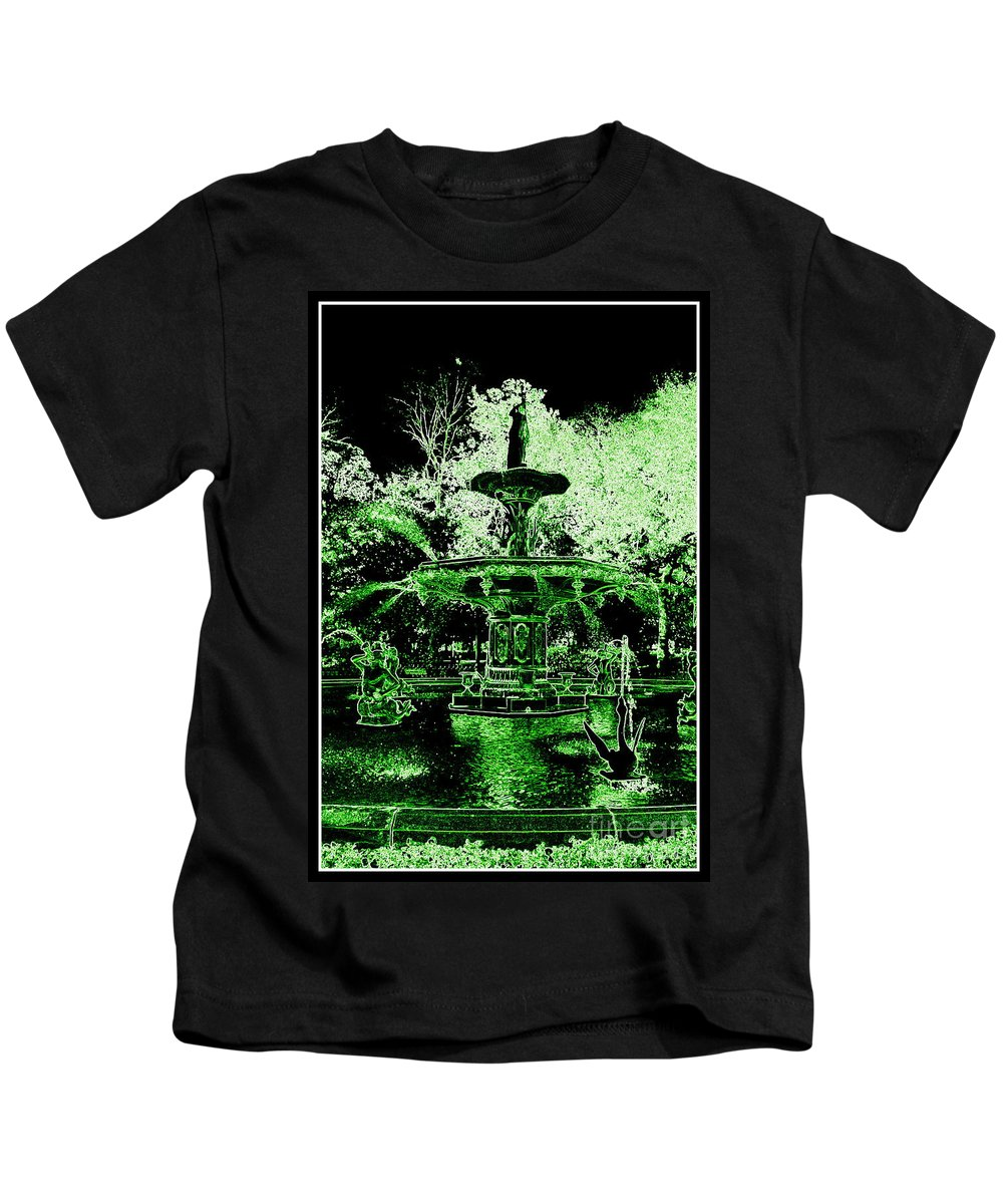Savannah Kids T-Shirt featuring the photograph Green Savannah by Carol Groenen