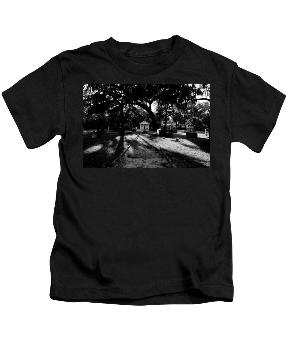 Fine Art Photography Kids T-Shirt featuring the photograph The Old Road To Eternity by David Lee Thompson