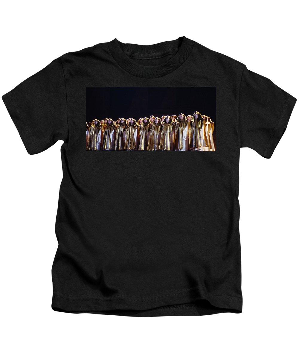 Verdi Kids T-Shirt featuring the photograph Verdi's Opera Aida by Shaun Higson