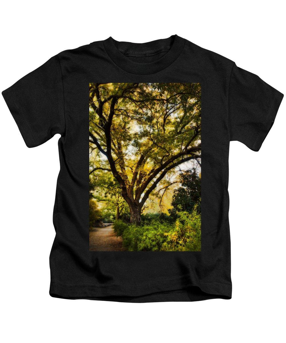 Fall Kids T-Shirt featuring the photograph The Path by Saija Lehtonen